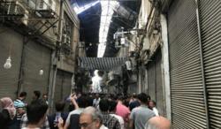 اعتراض مسالمت آمیز بازاریان تهران به رکود و آشفتگی ارز+ عکس