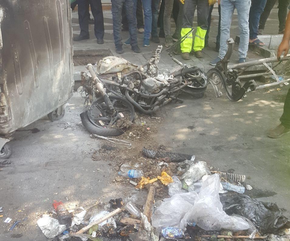 سواستفاده از تجمع صنفی/ اغتشاشگران اموال مردم را به آتش كشيدند+ تصاوير