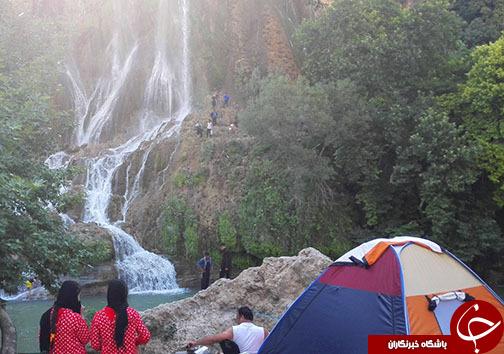 حضور گردشگران در منطقه گردشگری بیشه به روایت تصویر