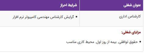 استخدام کارشناس اداری در شرکت مهندسی باربد در تهران