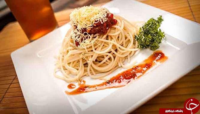 طرز تهیه اسپاگتی ایتالیایی با دو نوع سس پستو و گوجه فرنگی
