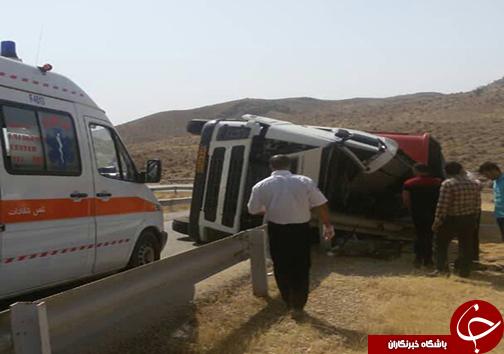 مرگ راننده کامیون در محور فراشبند - بوشکان