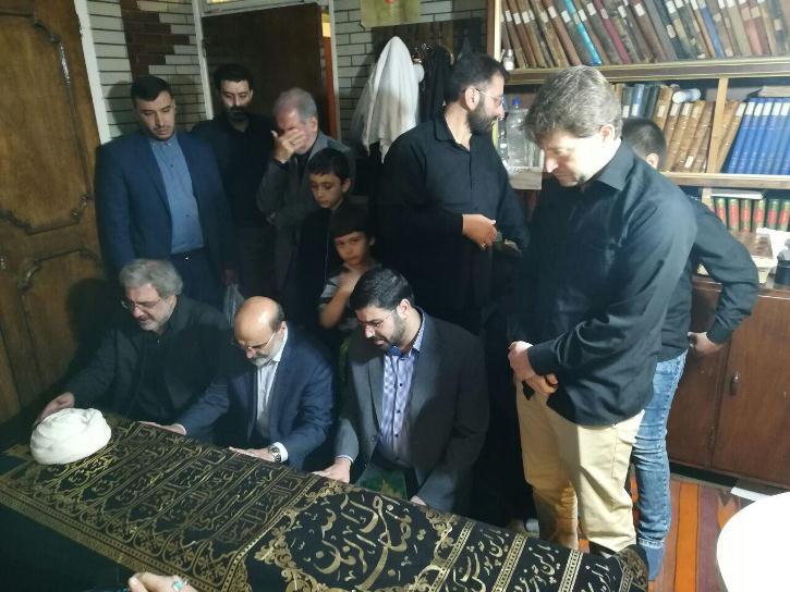 حضور رئيس رسانه ملی در بيت آيت الله آقا مرتضی تهرانی (ره)