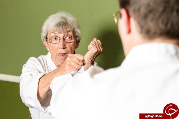 با زن 75 ساله کاراته باز آشنا شوید + تصاویر