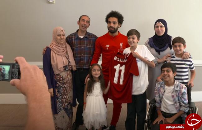 سورپرایز محمد صلاح برای نوجوان بیمار سوری!فوتبالیست مشهور رویای کودک بیمار سوری را محقق ساخت+تصاویر