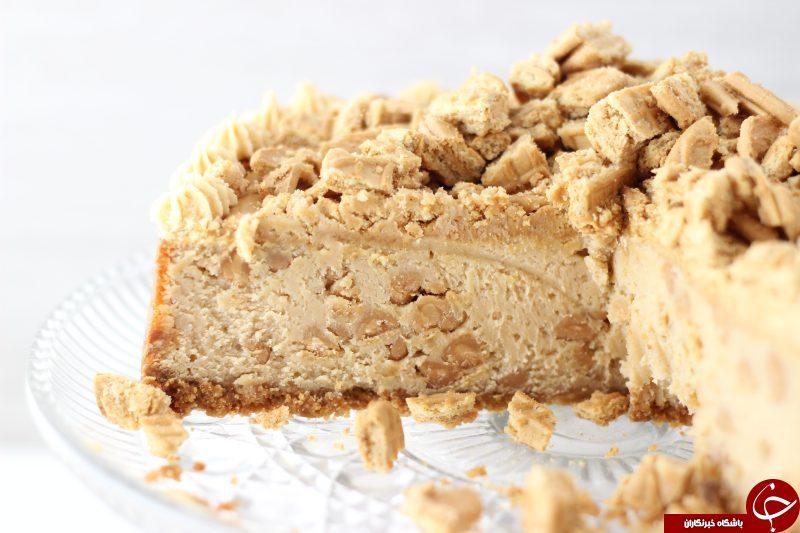 طرز تهیه چیز کیک کره بادام زمینی / دستورالعمل تهیه 2 دسر خوشمزه با کره بادام زمینی +تصاویر
