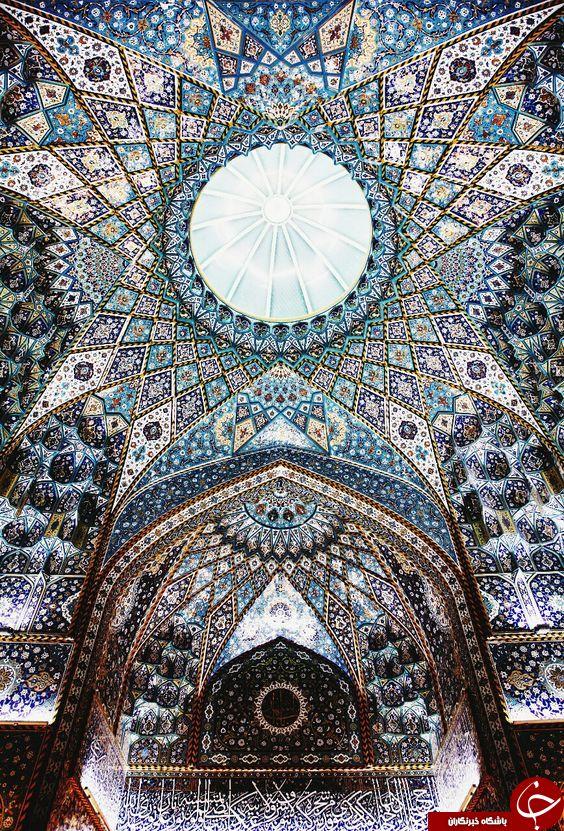 تصویری بی نظیر از سقف حرم امام حسین (ع) در کربلا