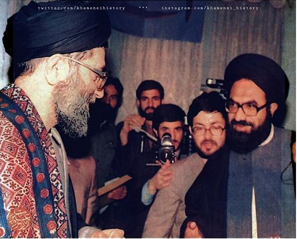 تصاویری از دیدار شهید سیدعارفحسین الحسینی با رهبر انقلاب