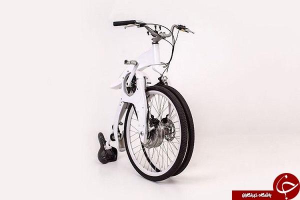 دوچرخهای برقی که در 1 ثانیه تا میشود +تصاویر