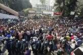 باشگاه خبرنگاران -یکصد زخمی در درگیری پلیس بنگلادش با دانشجویان تظاهرکننده