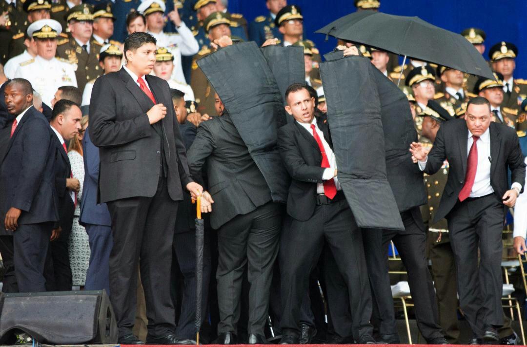 ترور نیکلاس مادورو شکست خورد/انهدام پهپاد مهاجم توسط محافظان