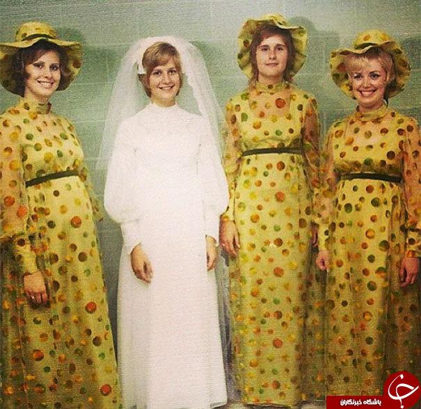 تصاویر قدیمی و خنده دار ساقدوشهای عروس