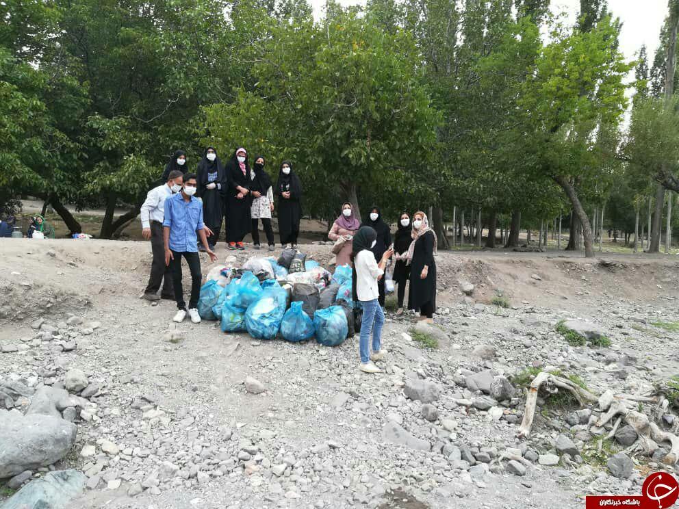 جمعآوری آشغال از طبیعت زیبای «دهکبری» + تصاویر