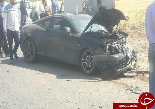 مصدومیت ۵ نفر در تصادف چهار خودرو در جاده بروجرد نهاوند+تصاویر