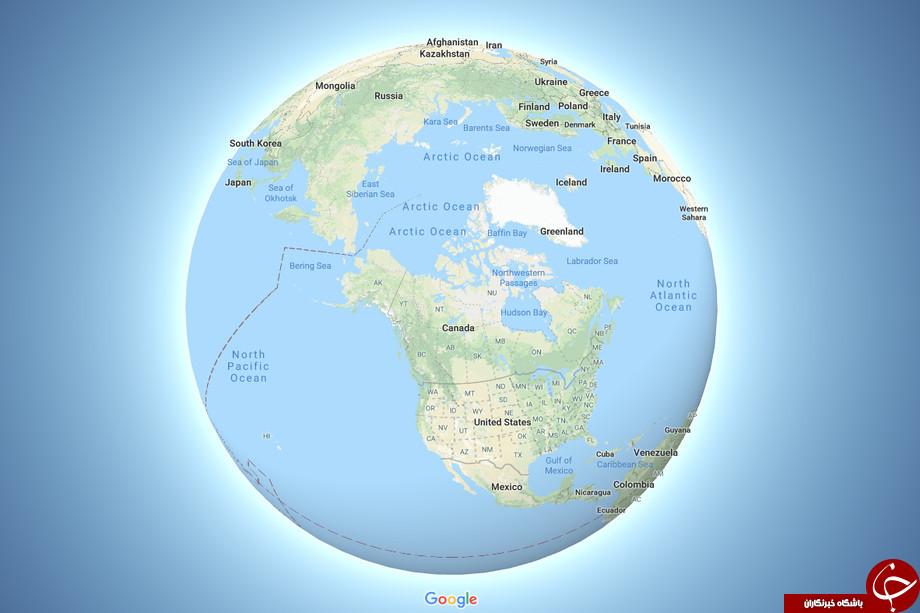 شکل جدید کره زمین در Google Maps +عکس