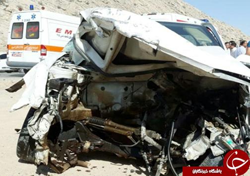 ۲ کشته و زخمی در تصادف محور مرودشت به درودزن + تصاویر