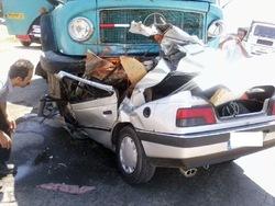 6کشته و زخمی در  برخودرو ماشین سنگین با خودرو سواری