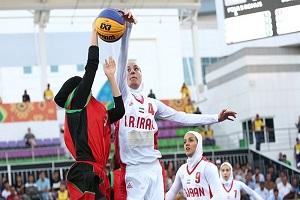 بسکتبال سه نفره بانوان فینالیست مسابقات غرب آسیا شد