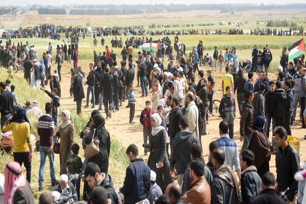 باشگاه خبرنگاران -تظاهرات بازگشت با وجود حملات رژیم صهیونیستی ادامه دارد