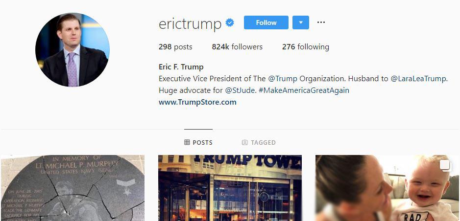دونالد ترامپ چه کسانی را در اینستاگرام دنبال میکند؟+ تصاویر