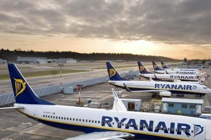 لغو ۴۰۰ پرواز در اروپا به دلیل اعتصاب خلبانان شرکت هواپیمایی رایان ایر