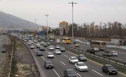 ترافیک در اکثر محورهای استان زنجان پرحجم است