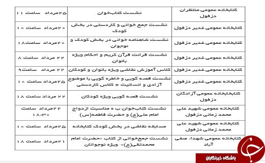 هفته چهارم مردادماه در کتابخانههای عمومی خوزستان چه خبر است؟