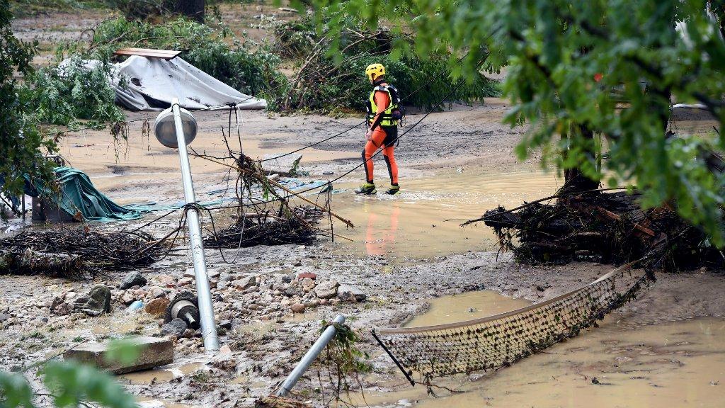 سیل در جنوب فرانسه باعث آوارگی ۱۶۰۰ نفر شد