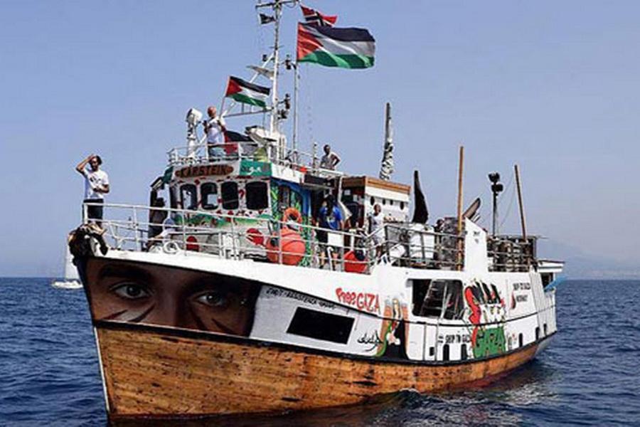تیراندازی صهیونیستها به سمت ناوگروه شکست محاصره غزه