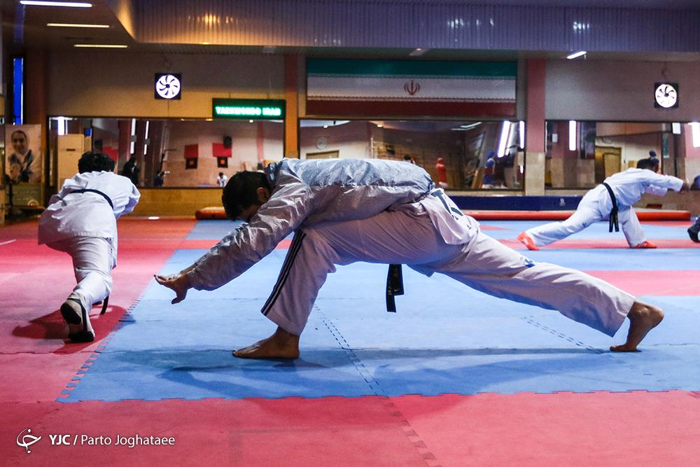 برگزاری تمرین تیم ملی تکواندو مردان پیش از اعزام به بازی های آسیایی جاکارتا