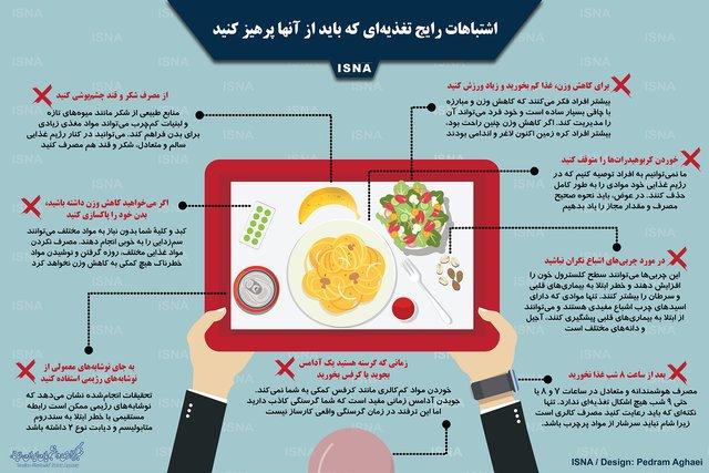 اشتباهات رایج تغذیهای را بشناسید +اینفوگرافیک