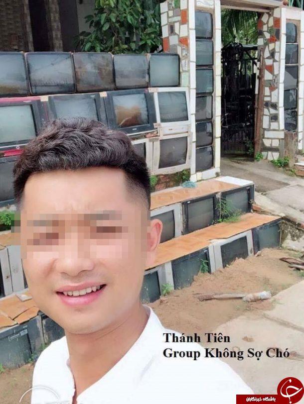 دیوار خانه ای با تلویزیونهای کهنه ساخته شد+تصاویر