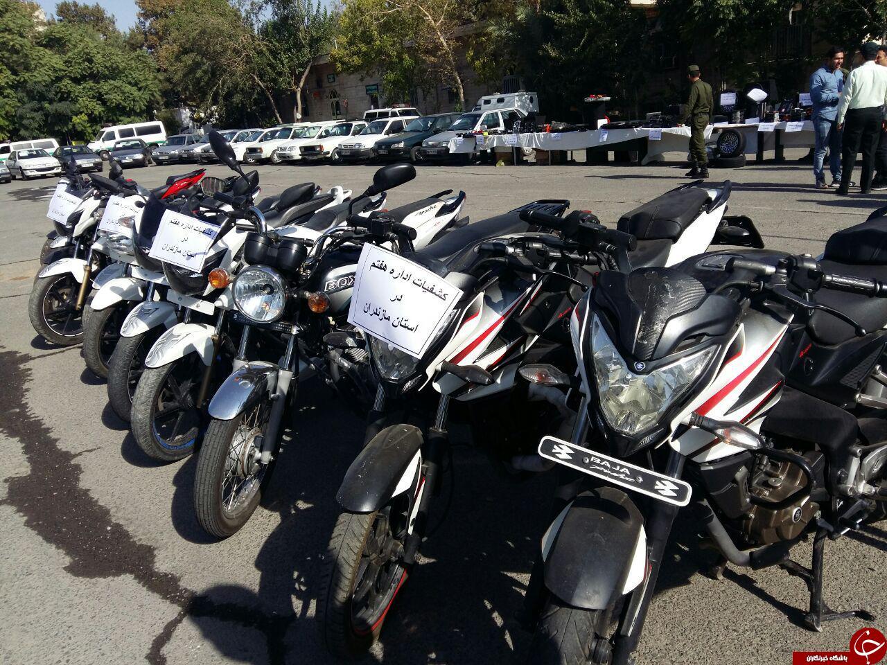 باشگاه خبرنگاران -دستگیری باند 12 نفره سارقان موتورسیکلت/ کشف موتورهای سرقتی در مازندران