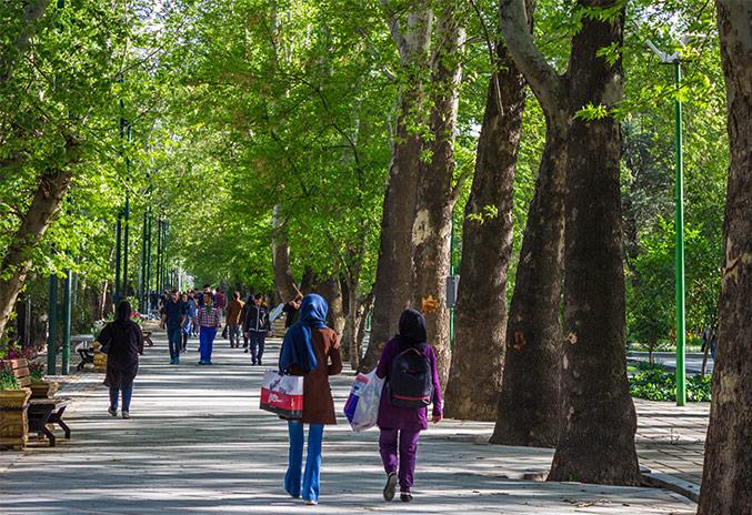از طولانیترین خیابان خاورمیانه به باغ ایرانی بروید