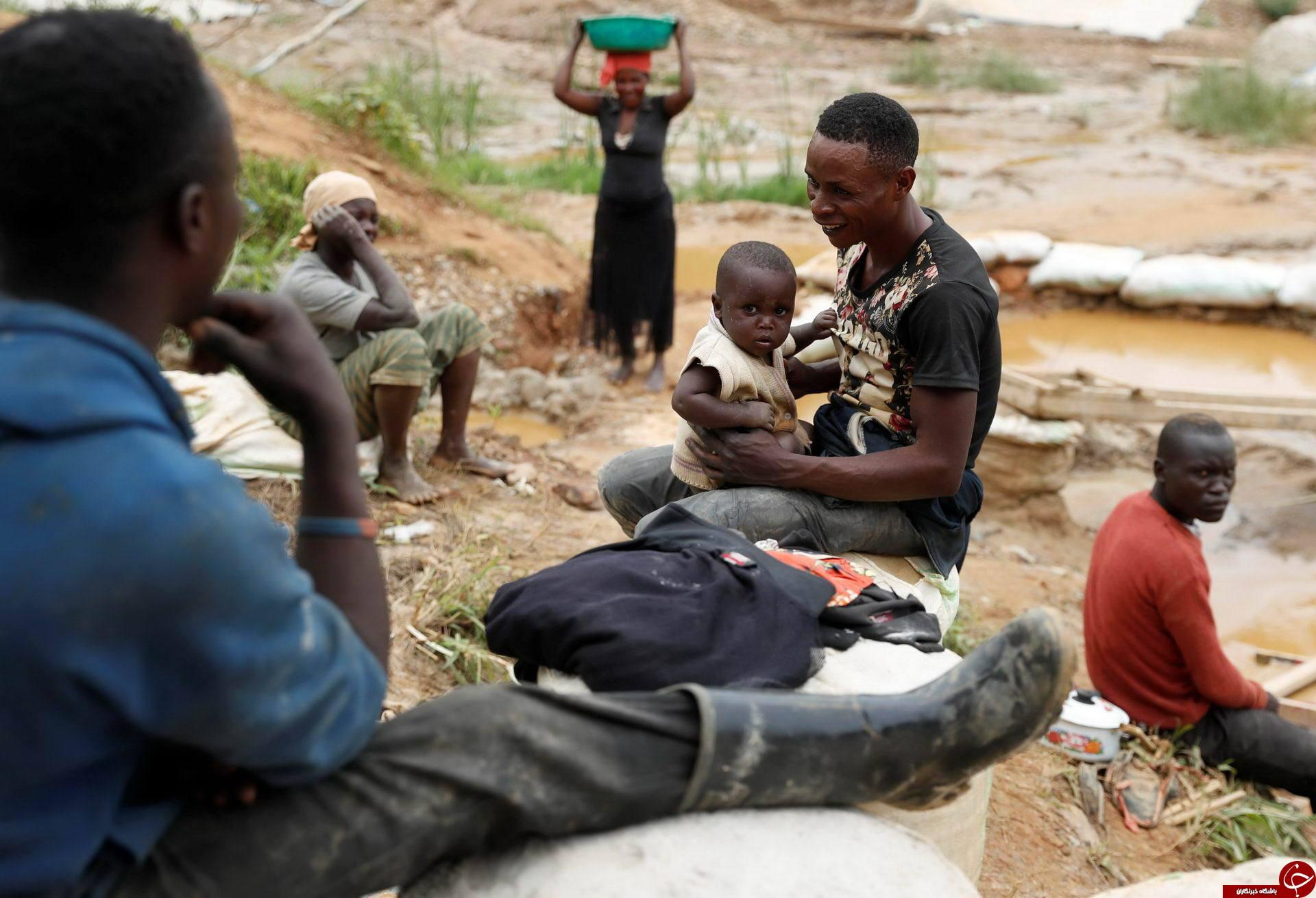 استخراج طلا کثیف ترین کار در کنگو + تصاویر