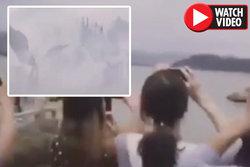 رویت پدیده عجیب در آسمان چین! +فیلم