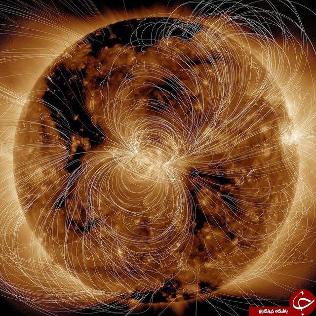 مدل رایانه ای از میدان مغناطیسی خورشید+عکس
