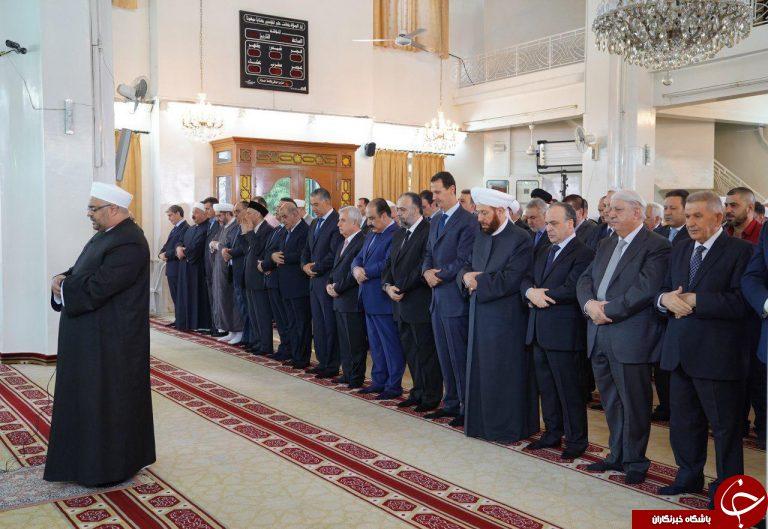 حضور بشار اسد در نماز عید قربان+ تصاویر