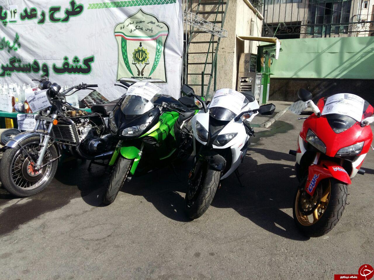 توقیف موتورهای 200 میلیونی در شمال تهران