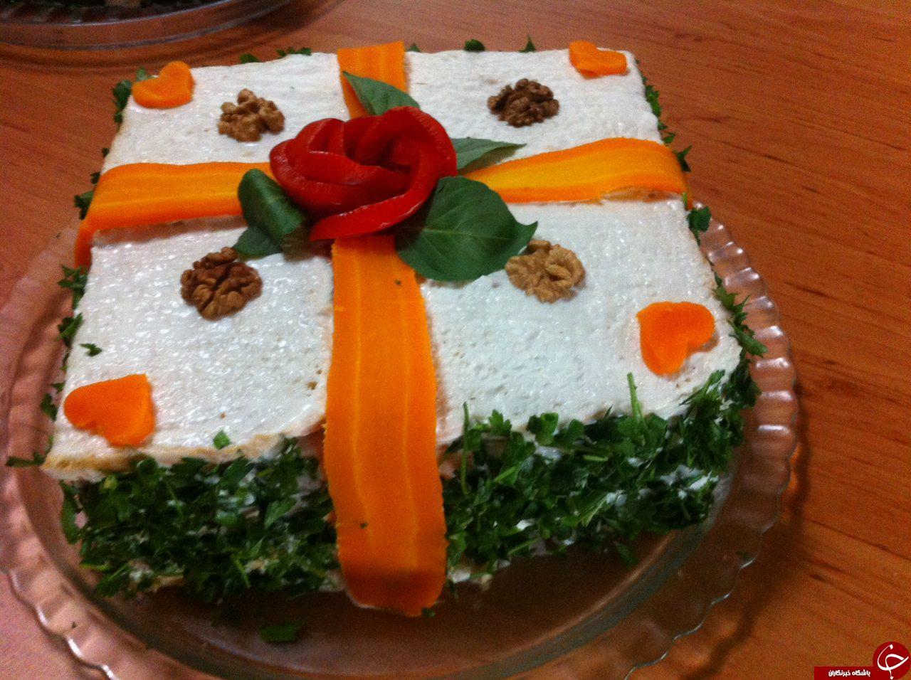 :)طرز تهیه کیک مرغ / آموزش یک غذای مجلسی و شیک! +تصاویر:)