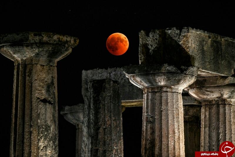 پدیدار شدن ماه خونین در آسمان جهان را شگفت زده کرد+ تصاویر