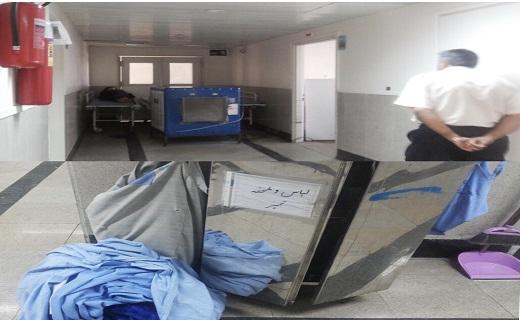 گرمای هوا علت کم حوصلگی بیماران بیمارستان کوثر سمنان