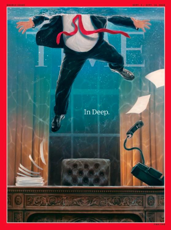 طرح جلد جدید تایم در واکنش به رسواییهای ترامپ+عکس