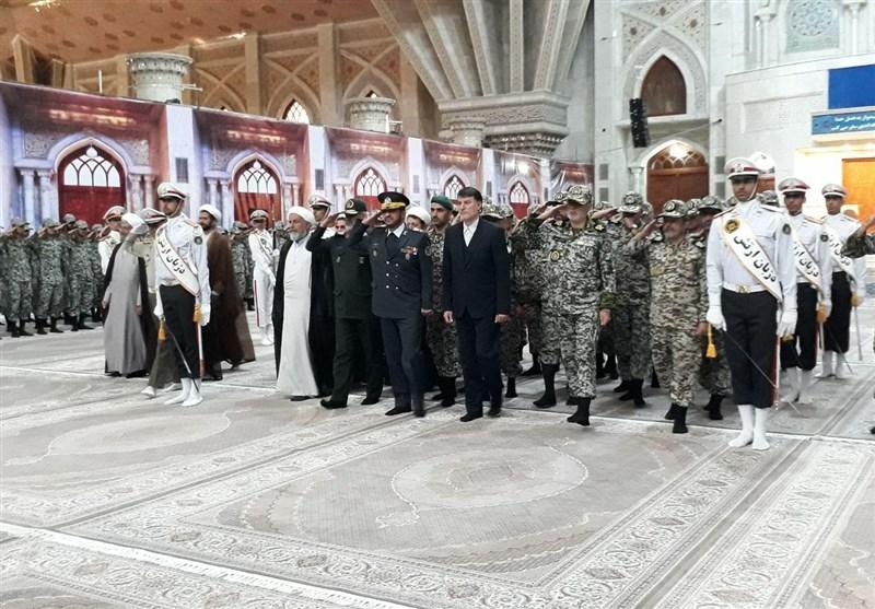 فرمانده و کارکنان قرارگاه پدافند هوایی با امام خمینی (ره) تجدید میثاق کردند