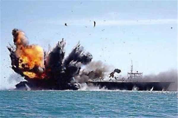 هدف قرار گرفتن کشتی جنگی عربستان در سواحل جیزان