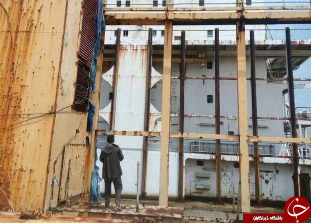 دیده شدن کشتی ارواح در سواحل میانمار+ عکس