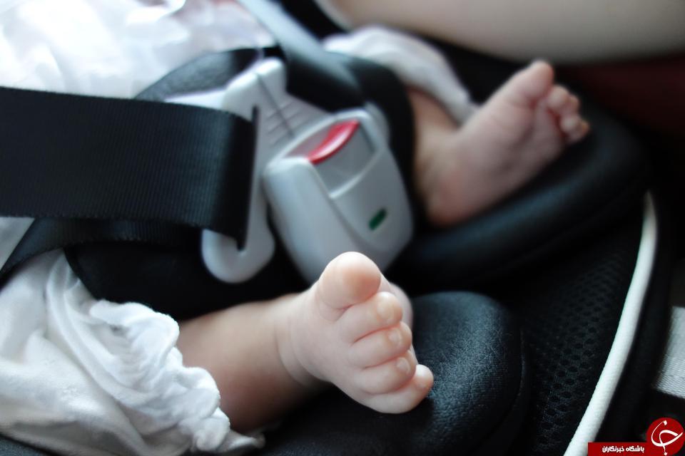رها کردن نوزاد در خودرو فاجعه آفرید + عکس//