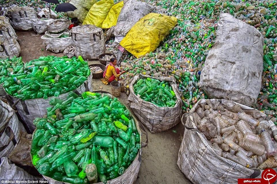 بطریهای پلاستیکی در بنگلادش چگونه بازیافت میشوند؟+ تصاویر