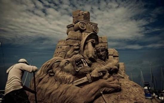 مجسمههای زیبای شنی+تصاویر
