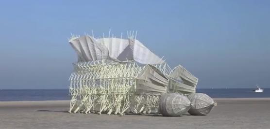 موجوداتی که با وزیدن باد زنده میشوند+فیلم